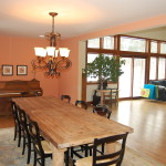 Well lit Dining room in Wauwatosa remodel